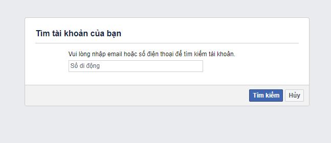 cách khắc phục quên mật khẩu facebook