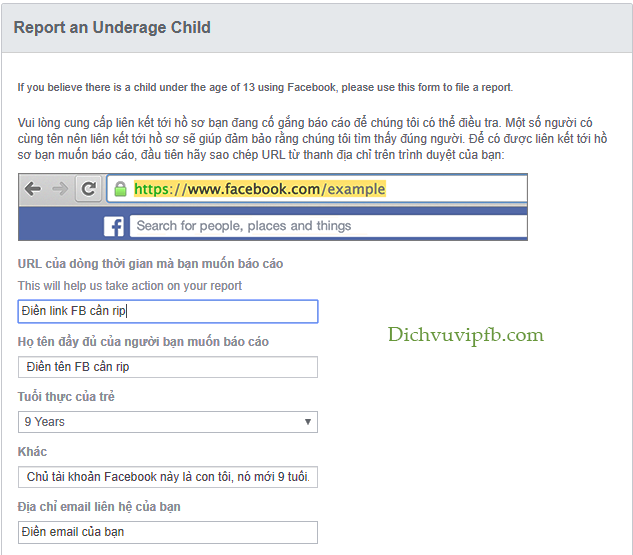 cách rip nick facebook người khác